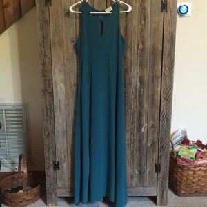 Dark teal maxi dress